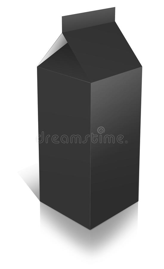 Ein Milch-Kasten stock abbildung