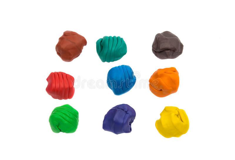 Ein modellierender Lehmball von verschiedenen Farben lizenzfreie stockfotografie