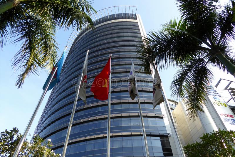Ein modernes Gebäude in Ho Chi Minh Stadt Vietnam stockfotografie