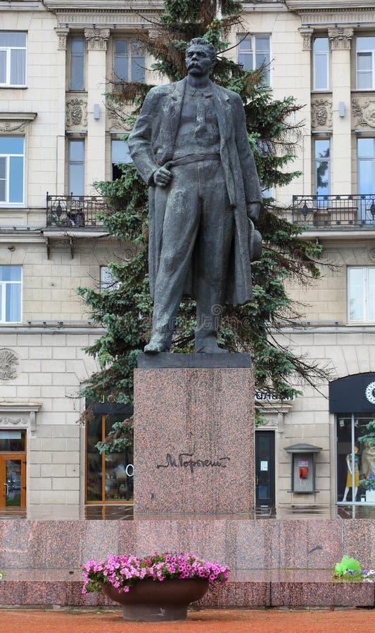 Ein Monument zum Verfasser Maxim Gorky stockbilder