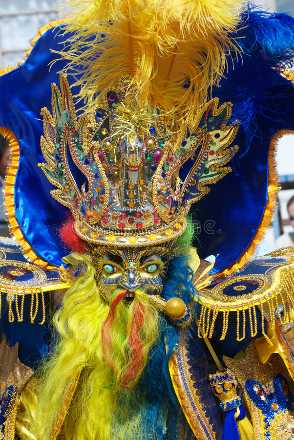Ein Moreno-Tänzer im Oruro Karneval lizenzfreies stockfoto