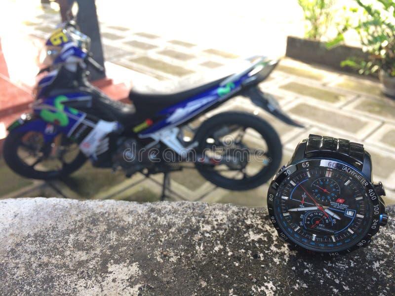 Ein Motorrad und lizenzfreies stockfoto