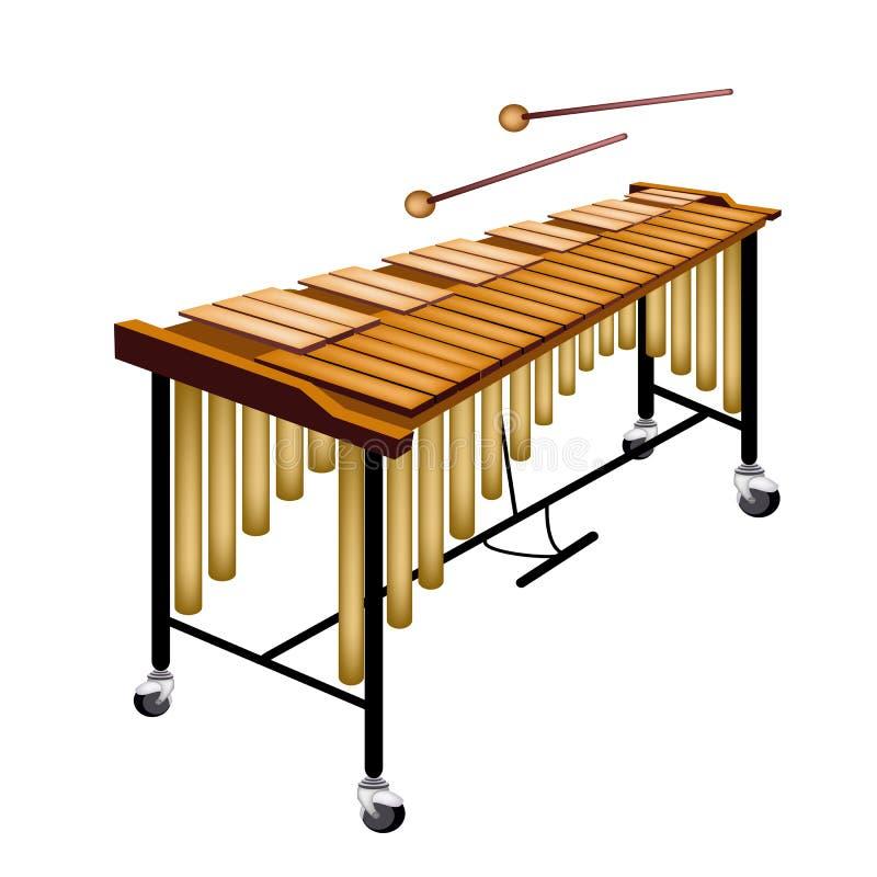 Ein musikalisches Vibraphon lokalisiert auf weißem Hintergrund lizenzfreie abbildung