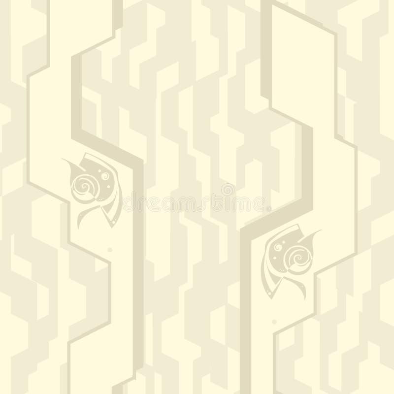Ein Muster ist abstrakter dekorativer Futurismus mit ursprünglichem Element stockbild