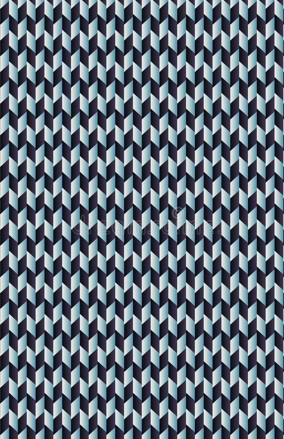 Ein Muster von blauen und cyan-blauen Paralleltrapezen stockfoto