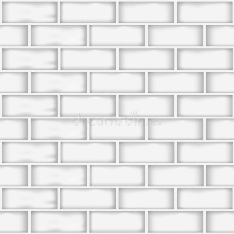 Ein nahtloser weißer Backsteinmauermusterhintergrund für Hintergrunddesign im Geschäft und in der Bildung lizenzfreie abbildung