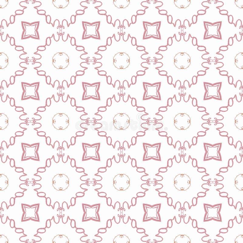 Ein nahtloses Muster in der abstrakten Kunst in den roten Farben Mit Stern stock abbildung