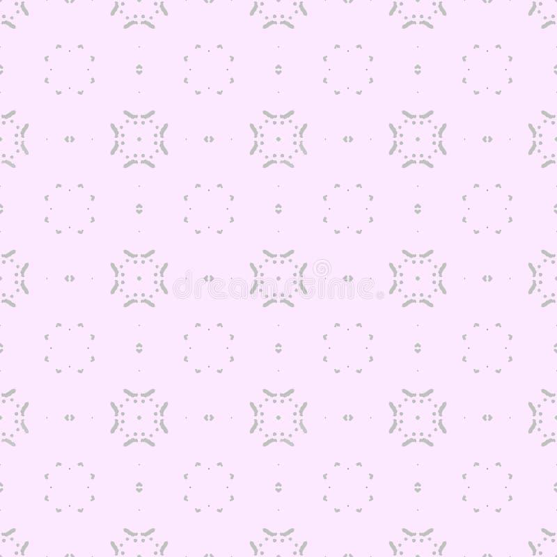 Ein nahtloses Muster im Grau und im Rosa vektor abbildung