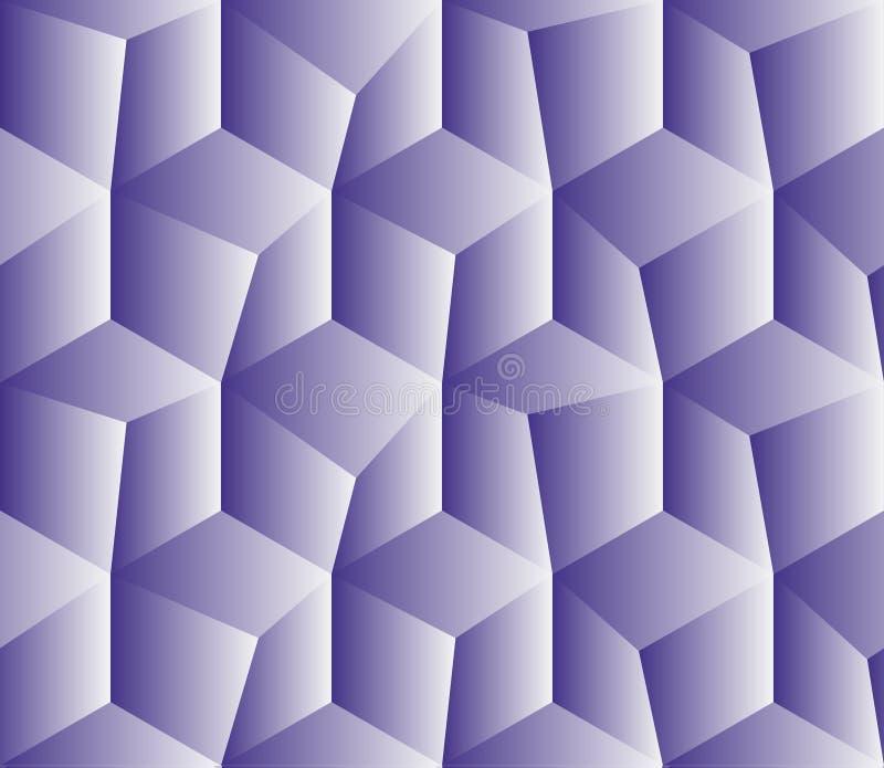 Ein nahtloses tilable blaues isometrisches Würfelmuster Entwarf, sein Bestes zu betrachten, als mit Ziegeln gedeckt lizenzfreie abbildung