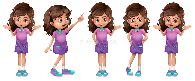 Ein nettes kleines Mädchen lizenzfreie abbildung