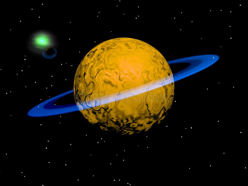 Ein neuer Planet stock abbildung