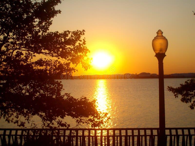 Ein New-Jersey Sonnenuntergang stockfotos