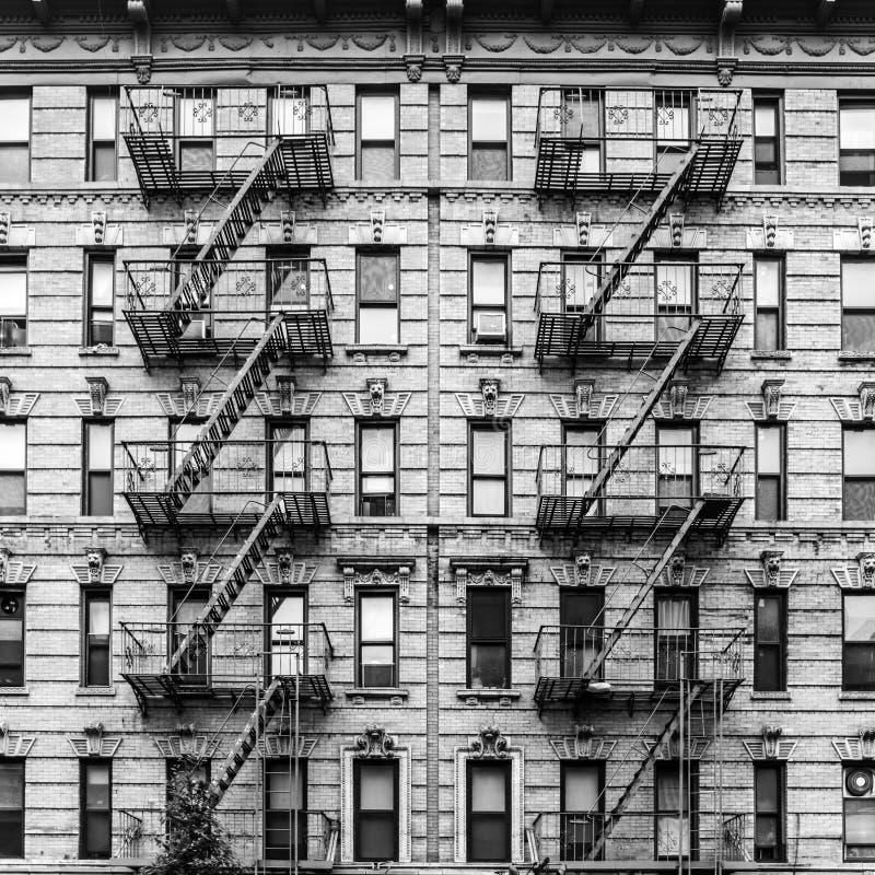 Ein Notausgang eines Wohngebäudes in New York City stockfoto