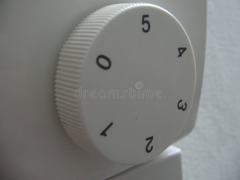 Ein numerierter Knopf stockfotos