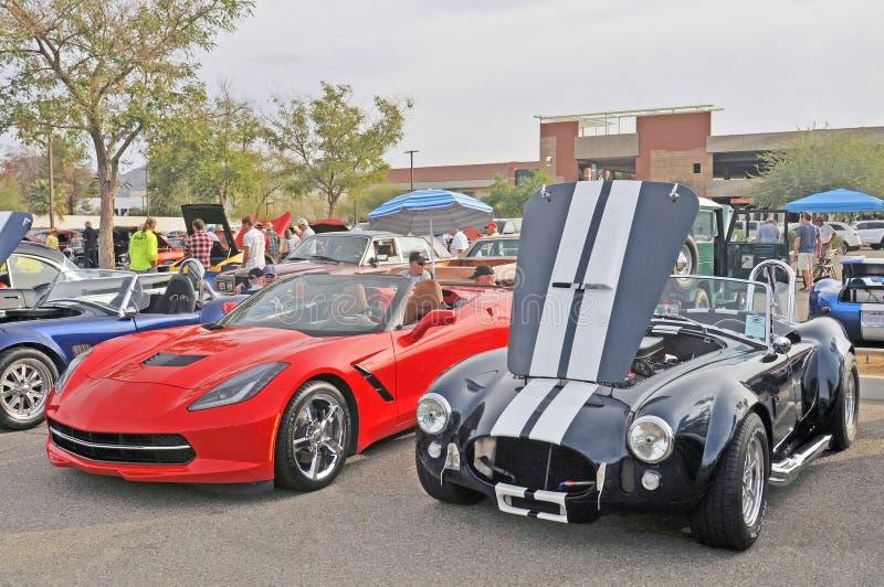 Ein Paar extreme Muskel-Autos lizenzfreie stockbilder