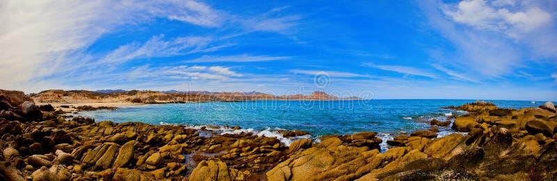 Ein Panorama des Meeres von Cortez lizenzfreie stockfotos