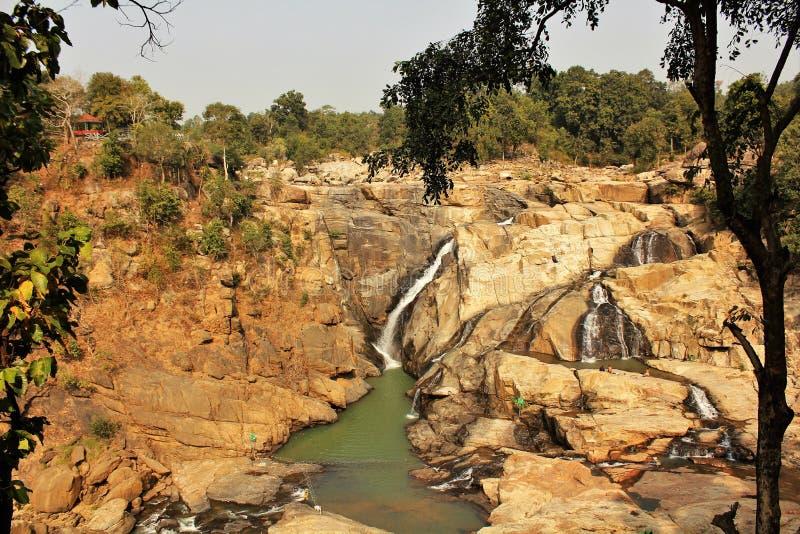 Ein Panoramablick von Dasham fällt nahe Ranchi in Indien lizenzfreie stockfotografie