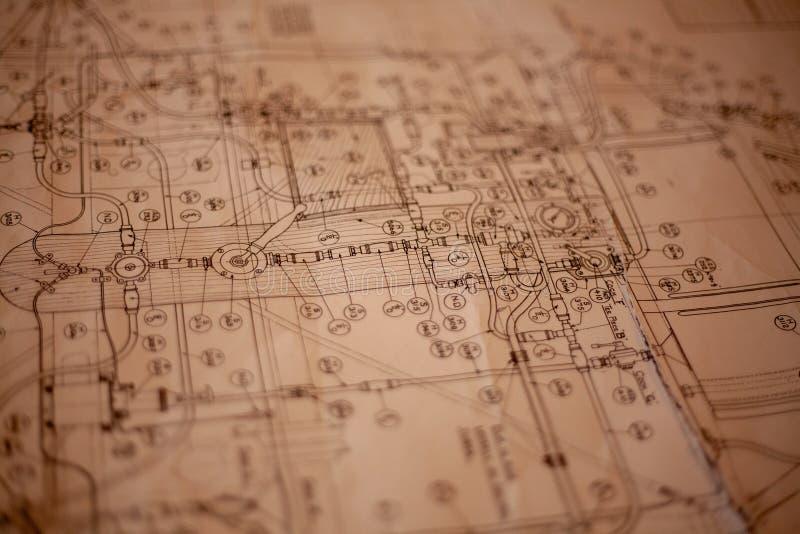 Ein Papierplan stockfoto