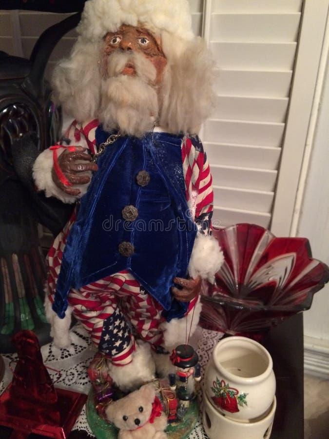 Ein patriotischer Onkel Sam Father Christmas stockfotos