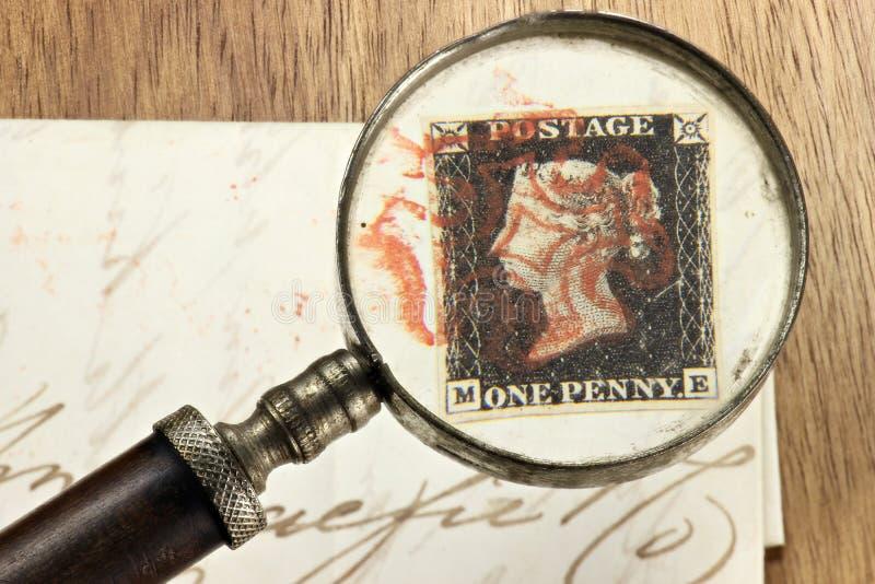 Ein Pennyschwarzes lizenzfreies stockfoto