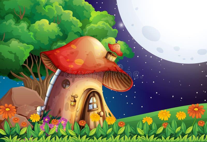 Ein Pilzhaus lizenzfreie abbildung