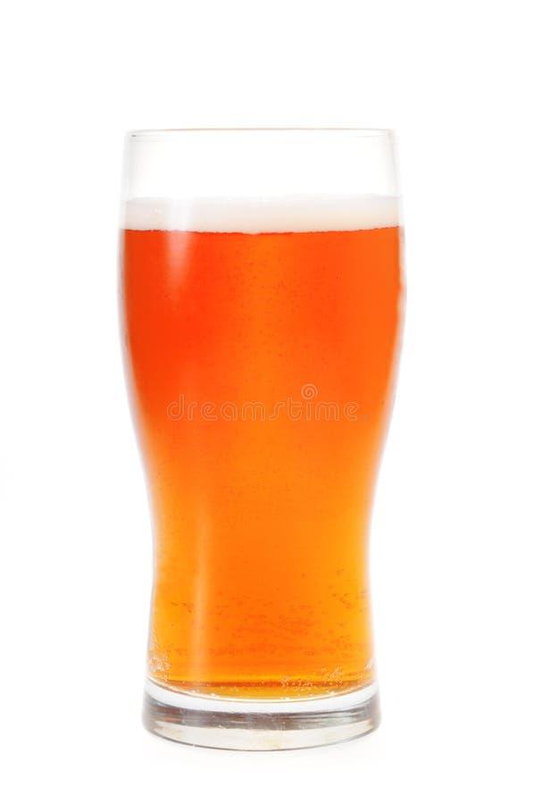 Ein Pint bernsteinfarbiges Ale stockfotografie