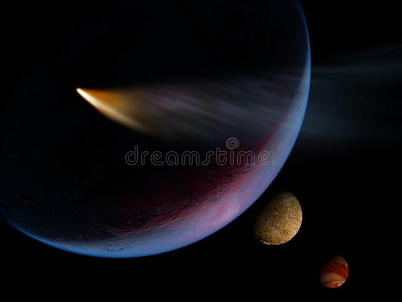 Ein Planet ist im Platz vektor abbildung