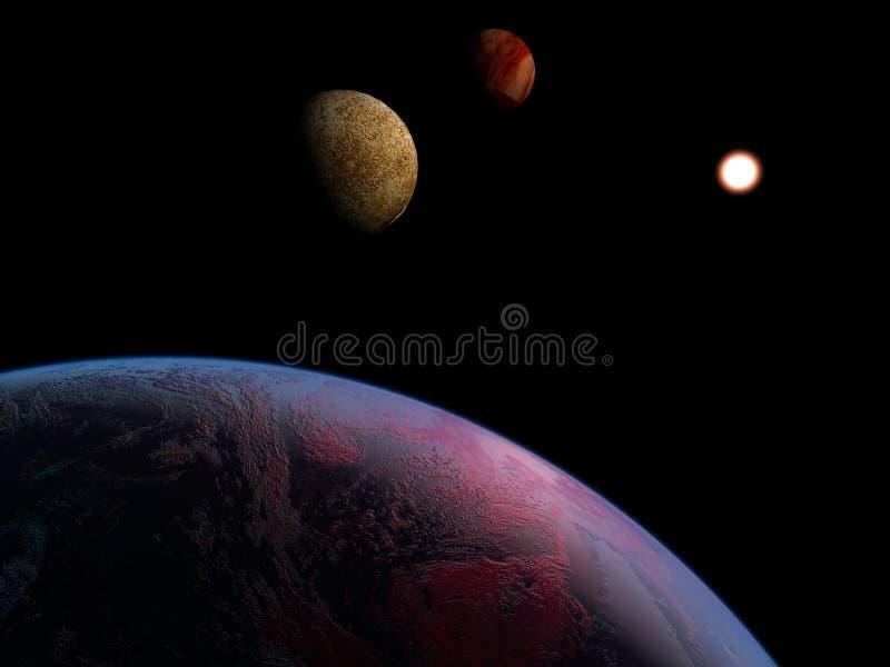 Ein Planet ist im Platz stock abbildung