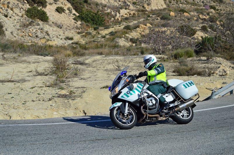 Ein Polizei-Motorrad stockbilder