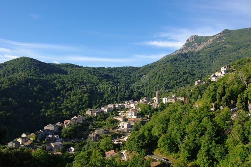 Ein porta Dorf in Korsika stockfotografie