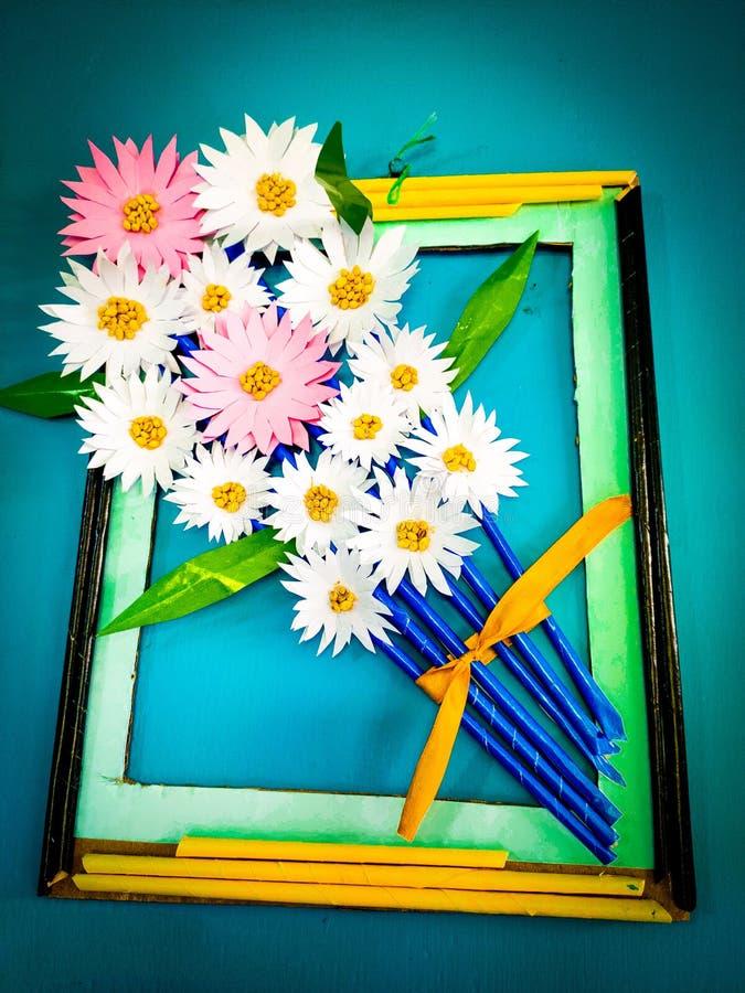 Ein Porträt der handgemachten Blume stockfoto