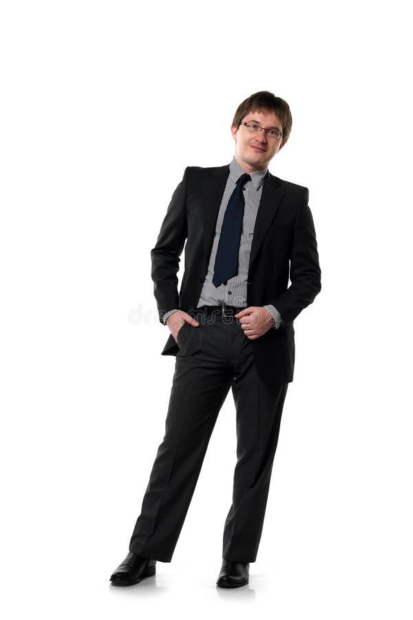 Ein Portrait des jungen Managers lizenzfreie stockfotografie