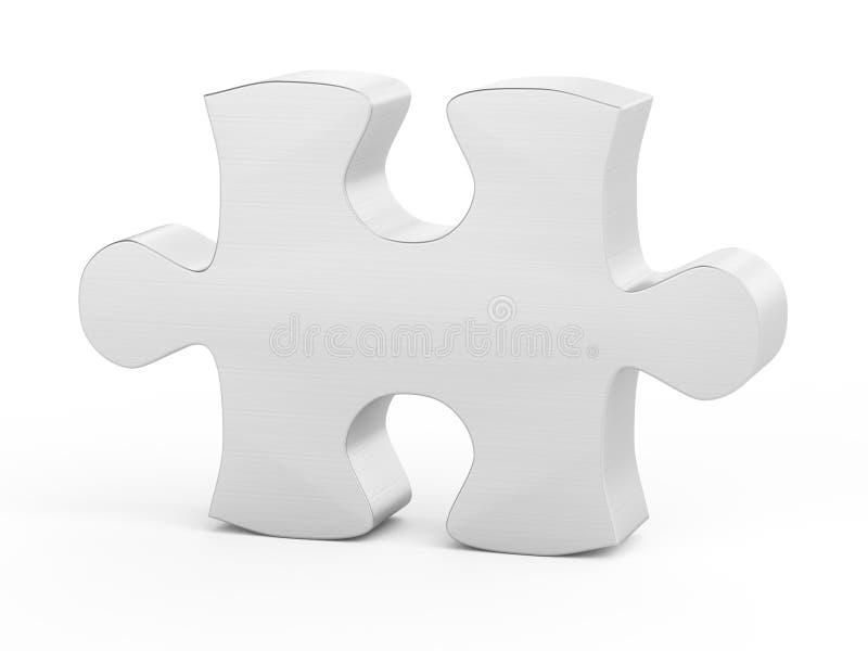 Ein Puzzlespielstück stock abbildung