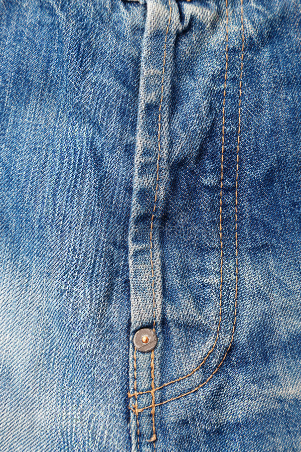 Ein Reißverschluss auf Jeans stockbild