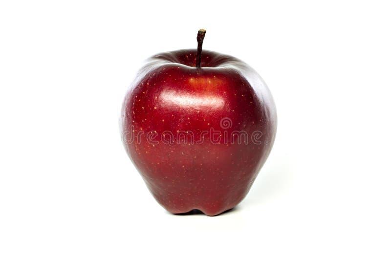 Ein reifer saftiger roter Apfel stockfotografie