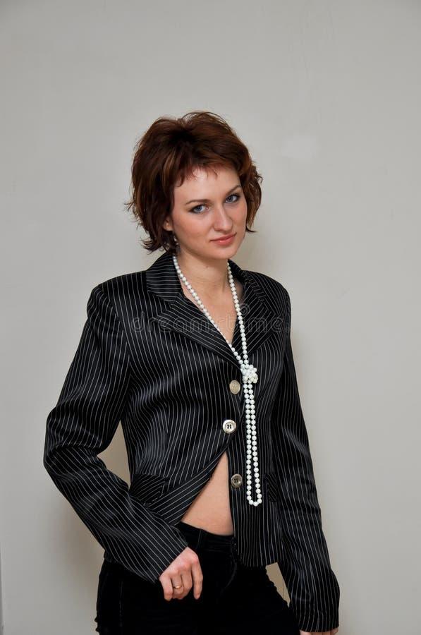 Ein reizend und reizendes Mädchen lizenzfreie stockfotografie