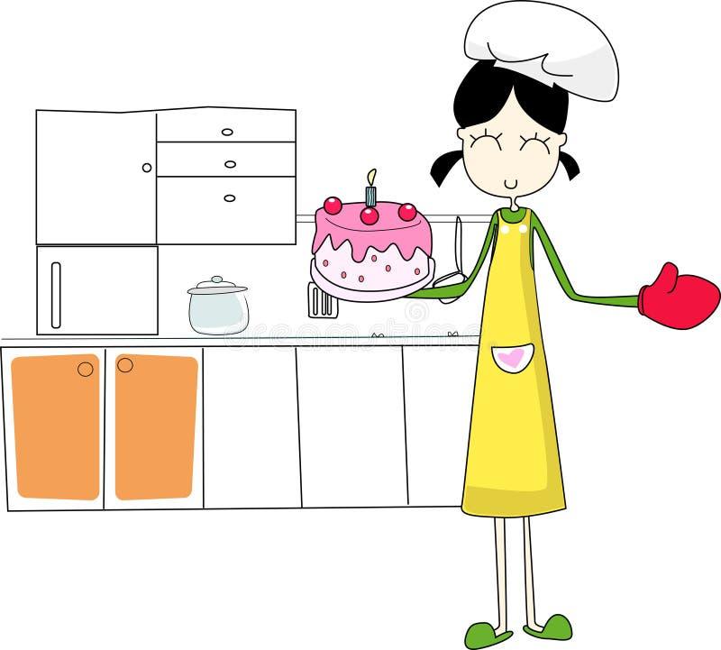 Ein reizendes kitchener vektor abbildung