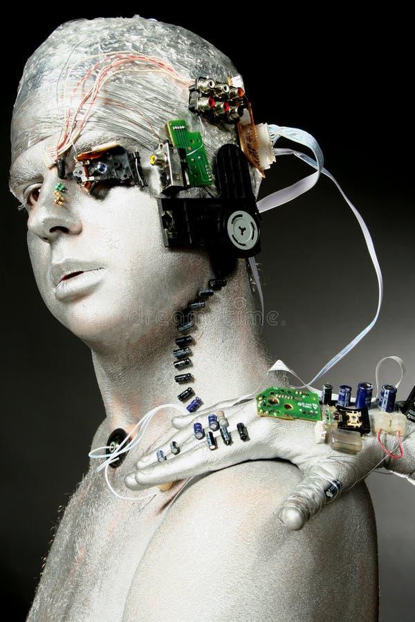 Ein Roboter stockbilder