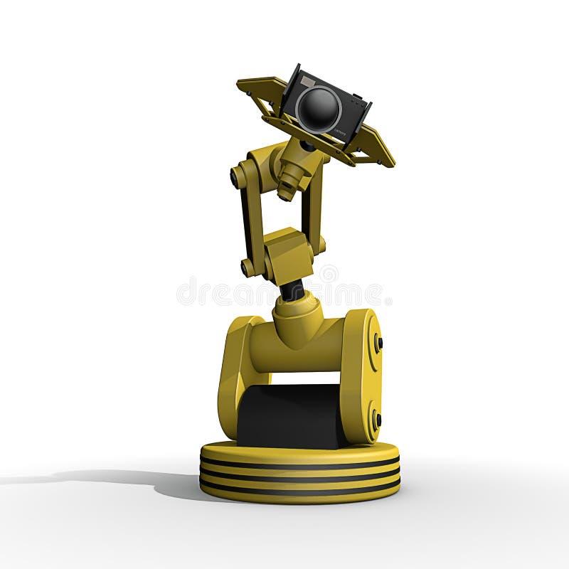 Ein Roboter, der Fotos macht stock abbildung