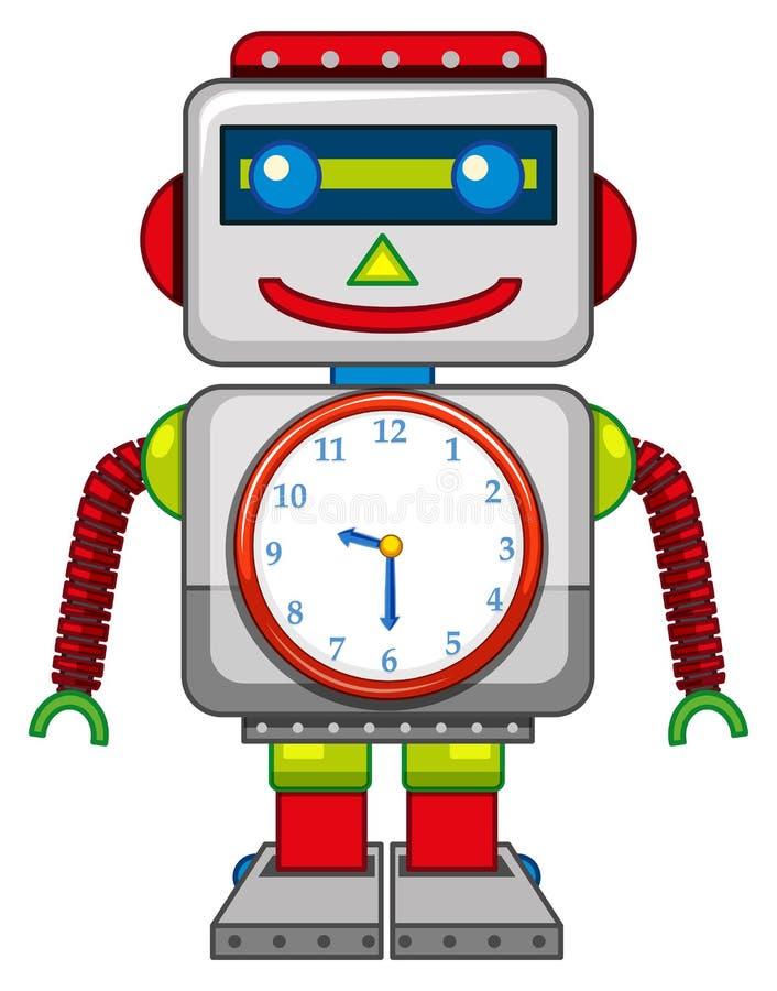 Ein Roboterspielzeug auf weißem Hintergrund vektor abbildung
