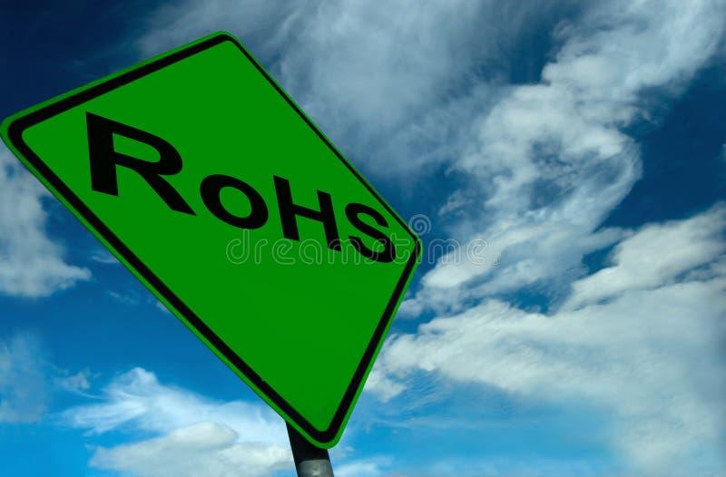 Ein RoHS Zeichen lizenzfreies stockfoto