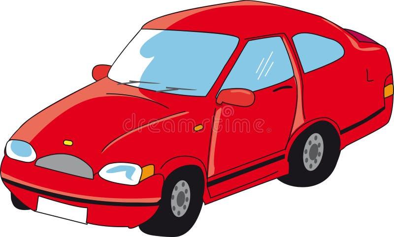 Ein rotes lustiges Auto lizenzfreie abbildung
