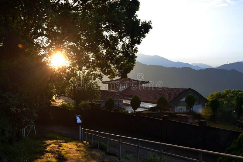 Ein ruhiger Morgen am Trappist-Benediktiner-Kloster stockfotografie