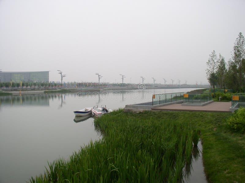 Ein ruhiger Platz in Peking stockbilder