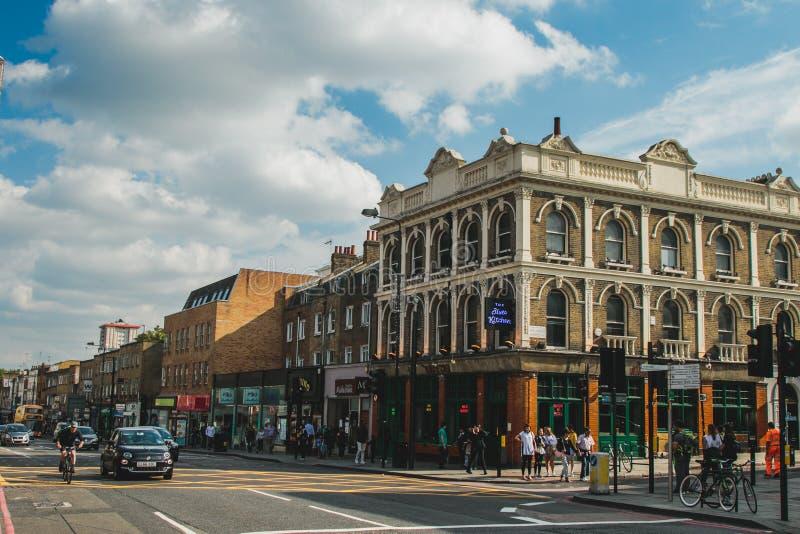 Ein ruhiges Straßenbild in Camden, London stockfotografie