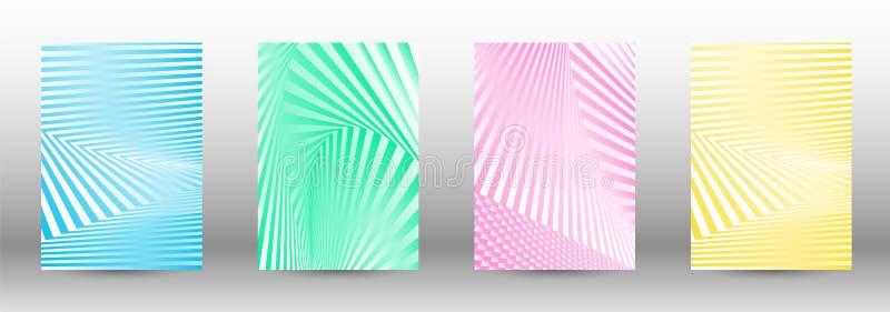 Ein Satz abstrakte Muster mit verzerrten Linien lizenzfreie abbildung
