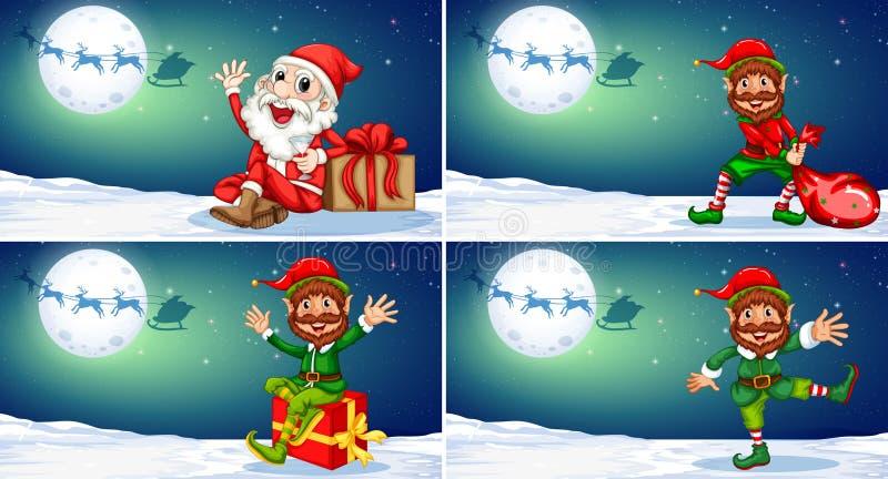 Ein Satz der Weihnachtsschablone lizenzfreie abbildung