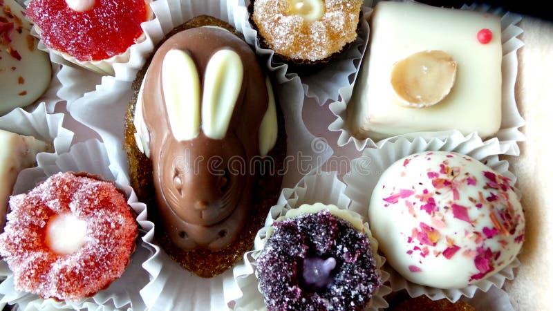 Ein Satz Marmelade und Pralinen mit einer Kaninchenzahl lizenzfreies stockfoto