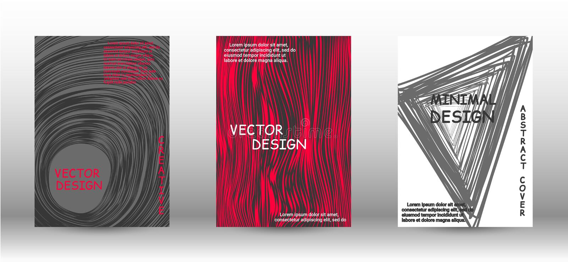 Ein Satz moderne Abdeckungen vektor abbildung