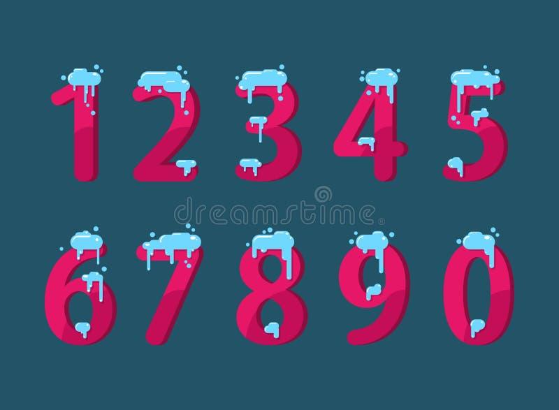 Ein Satz Zahlen lizenzfreie abbildung